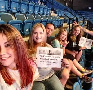 Amiee attended Nickelback - Feed the Machine Tour With Special Guest Daughtry and Shaman's Harvest on Jul 13th 2017 via VetTix