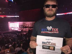Henry attended Queen + Adam Lambert Live at the Pepsi Center on Jul 6th 2017 via VetTix