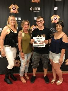 Nicholas attended Queen + Adam Lambert Live at the Pepsi Center on Jul 6th 2017 via VetTix