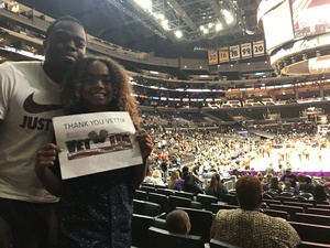 NICHOLSON attended Los Angeles Sparks vs. Connecticut Sun - WNBA on Jul 13th 2017 via VetTix