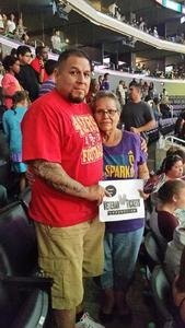 Jesse attended Los Angeles Sparks vs. Connecticut Sun - WNBA on Jul 13th 2017 via VetTix