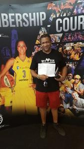 LEWIS attended Los Angeles Sparks vs. Connecticut Sun - WNBA on Jul 13th 2017 via VetTix