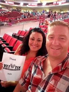 Harry and April attended Total Package Tour - New Kids on the Block With Paula Abdul and Boyz II Men on Jul 11th 2017 via VetTix