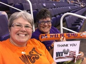 Kelly attended Phoenix Mercury vs. Atlanta Dream - WNBA on Jul 12th 2017 via VetTix
