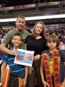 Mark attended Phoenix Mercury vs. Atlanta Dream - WNBA on Jul 12th 2017 via VetTix