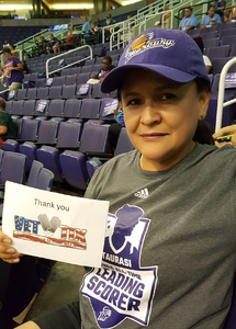 Wil attended Phoenix Mercury vs. Atlanta Dream - WNBA on Jul 12th 2017 via VetTix