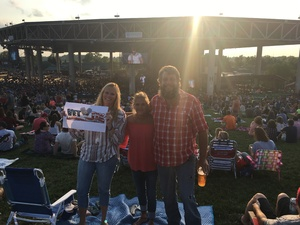 Eric attended Brad Paisley With Special Guest Dustin Lynch, Chase Bryant, and Lindsay Ell - Lawn Seats on Aug 11th 2017 via VetTix