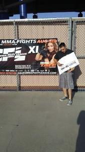Anthony Almaraz attended Cfl 11 - Live Mixed Martial Arts - General Admission - Presented by California Fight League on Aug 5th 2017 via VetTix