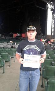 Michael attended Nickelback - Feed the Machine Tour With Special Guest Daughtry and Shaman's Harvest - Reserved Seats on Aug 7th 2017 via VetTix