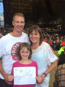 Jeff attended Nickelback - Feed the Machine Tour With Special Guest Daughtry and Shaman's Harvest - Reserved Seats on Aug 7th 2017 via VetTix