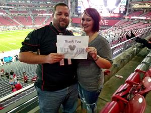 Matthew attended Arizona Cardinals vs. Oakland Raiders - NFL Preseason - SRP Club Seats on Aug 12th 2017 via VetTix