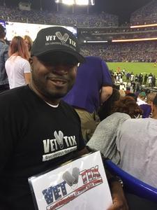 Derrick attended Baltimore Ravens vs. Washington Redskins - NFL Preseason on Aug 10th 2017 via VetTix