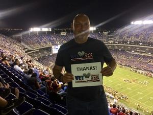 Andrew attended Baltimore Ravens vs. Washington Redskins - NFL Preseason on Aug 10th 2017 via VetTix