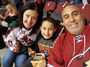 Pete attended Arizona Coyotes vs. Philadelphia Flyers - NHL - Opening Night on Oct 15th 2016 via VetTix