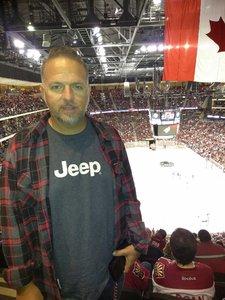 richard attended Arizona Coyotes vs. Philadelphia Flyers - NHL - Opening Night on Oct 15th 2016 via VetTix