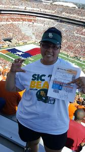 Ethan attended University of Texas Longhorns vs. Baylor - NCAA Football on Oct 29th 2016 via VetTix