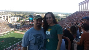 Miguel attended University of Texas Longhorns vs. Baylor - NCAA Football on Oct 29th 2016 via VetTix