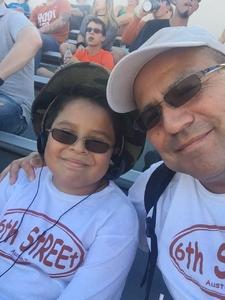 Eugenio attended University of Texas Longhorns vs. Baylor - NCAA Football on Oct 29th 2016 via VetTix