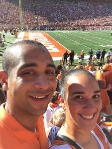 Vanessa attended University of Texas Longhorns vs. Baylor - NCAA Football on Oct 29th 2016 via VetTix