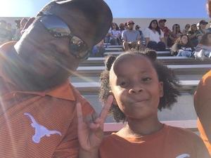 DeShane attended University of Texas Longhorns vs. Baylor - NCAA Football on Oct 29th 2016 via VetTix