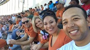 Christopher attended University of Texas Longhorns vs. Baylor - NCAA Football on Oct 29th 2016 via VetTix