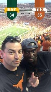 Nelson attended University of Texas Longhorns vs. Baylor - NCAA Football on Oct 29th 2016 via VetTix