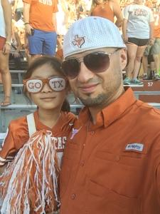 Jacob attended University of Texas Longhorns vs. Baylor - NCAA Football on Oct 29th 2016 via VetTix