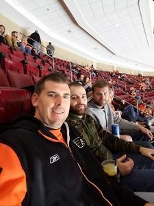 bryan attended Philadelphia Flyers vs. Ottawa Senators - NHL on Nov 15th 2016 via VetTix