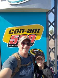 Dirk attended Can-am 500 - Nascar Sprint Cup Series - Phoenix International Raceway on Nov 13th 2016 via VetTix