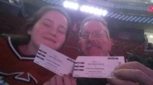 ALAN attended New Jersey Devils vs. Carolina Hurricanes - NHL - Hoops for Troops Night!! on Nov 8th 2016 via VetTix
