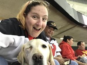 Pamela attended New Jersey Devils vs. Carolina Hurricanes - NHL - Hoops for Troops Night!! on Nov 8th 2016 via VetTix