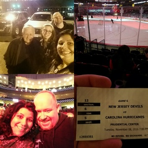 Christopher attended New Jersey Devils vs. Carolina Hurricanes - NHL - Hoops for Troops Night!! on Nov 8th 2016 via VetTix