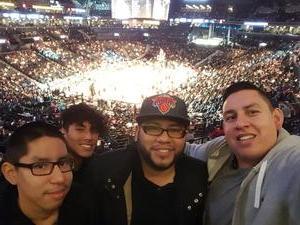 Miguel attended Brooklyn Nets vs. New Orleans Pelicans - NBA on Jan 12th 2017 via VetTix