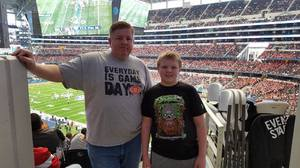 joseph attended Cotton Bowl Classic - Western Michigan Broncos vs. Wisconsin Badgers - NCAA Football on Jan 2nd 2017 via VetTix