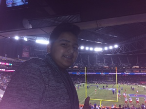 Edson attended Motel 6 Cactus Bowl - Baylor Bears vs. Boise State Broncos - NCAA Football on Dec 27th 2016 via VetTix