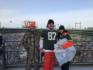 David attended Green Bay Packers vs. New York Giants - NFL Playoffs Wild Card Game on Jan 8th 2017 via VetTix