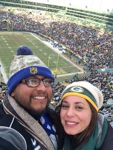 Jubert attended Green Bay Packers vs. New York Giants - NFL Playoffs Wild Card Game on Jan 8th 2017 via VetTix