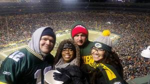 Triston and Family attended Green Bay Packers vs. New York Giants - NFL Playoffs Wild Card Game on Jan 8th 2017 via VetTix