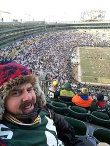 Todd attended Green Bay Packers vs. New York Giants - NFL Playoffs Wild Card Game on Jan 8th 2017 via VetTix