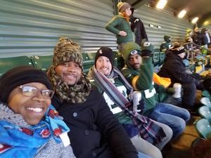 LaKisha attended Green Bay Packers vs. New York Giants - NFL Playoffs Wild Card Game on Jan 8th 2017 via VetTix