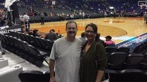 Drew attended Phoenix Suns vs. Utah Jazz - NBA on Jan 16th 2017 via VetTix