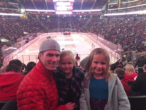 JARRED attended Arizona Coyotes vs. Vancouver Canucks - NHL - Lower Level Tickets on Jan 26th 2017 via VetTix