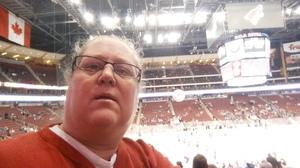 Kristina attended Arizona Coyotes vs. Vancouver Canucks - NHL - Lower Level Tickets on Jan 26th 2017 via VetTix