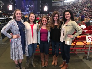 Kelsie attended Brad Paisley - Life Amplified World Tour With Special Guest Chase Bryant and Rising-star Lindsay Ell on Feb 17th 2017 via VetTix