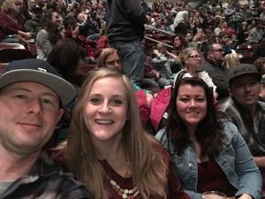 Tiffany attended Brad Paisley - Life Amplified World Tour With Special Guest Chase Bryant and Rising-star Lindsay Ell on Feb 17th 2017 via VetTix