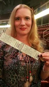 Jania attended Brad Paisley - Life Amplified World Tour With Special Guest Chase Bryant and Rising-star Lindsay Ell on Feb 17th 2017 via VetTix