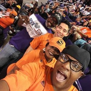 Perry attended Phoenix Suns vs. Los Angeles Lakers - NBA on Feb 15th 2017 via VetTix