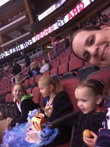 Tiffany attended Arizona Coyotes vs. Anaheim Ducks - NHL on Feb 20th 2017 via VetTix