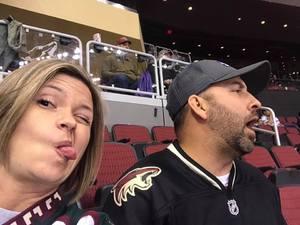 Aaron attended Arizona Coyotes vs. Anaheim Ducks - NHL on Feb 20th 2017 via VetTix