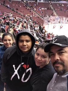 Daniel attended Arizona Coyotes vs. Anaheim Ducks - NHL on Feb 20th 2017 via VetTix